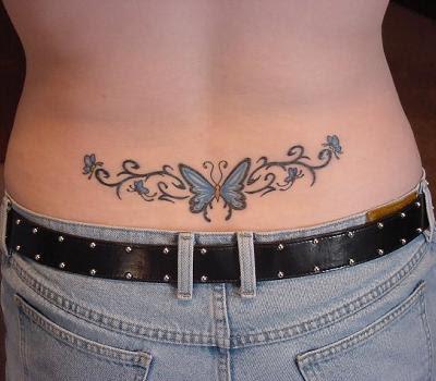 Nice Star round Tattoo Design Upper Back Tribal