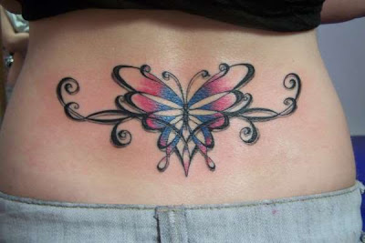Tattoos on Indiana Tattoos  Butterfly Lower Back Tattoo Design