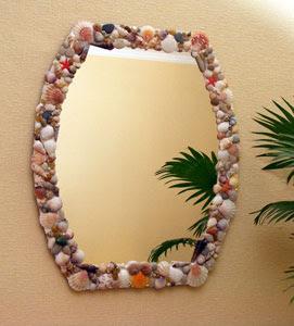 Espejos decorados con conchas de mar lodijoella for Espejos con marcos decorados