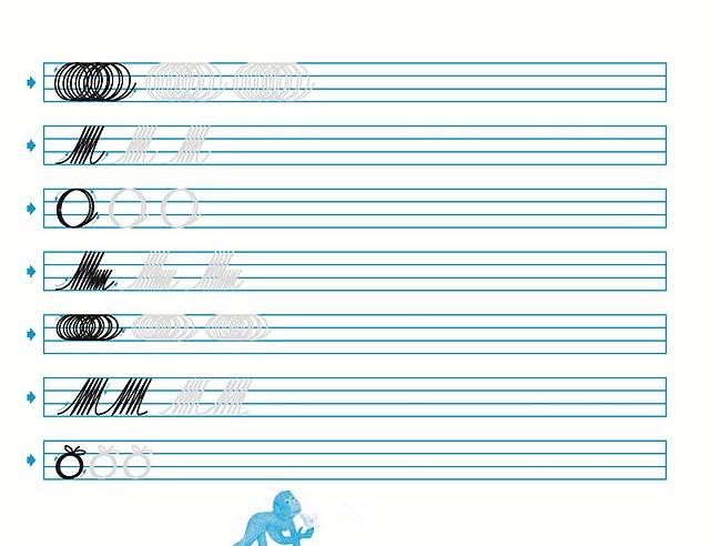 Cuadernos de caligrafia palmer para imprimir - Imagui