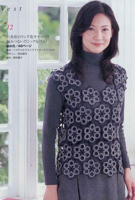 Blusas a crochet, bonito y fácil :