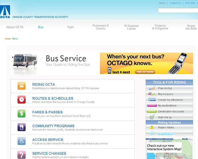 OCTA Bus Schedule &amp; Routes - Orange County Transportation Authority - www.octa.net