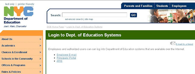 NYC DOE - Login to schools.nyc.gov/DOELogin - Dept. of Education Systems