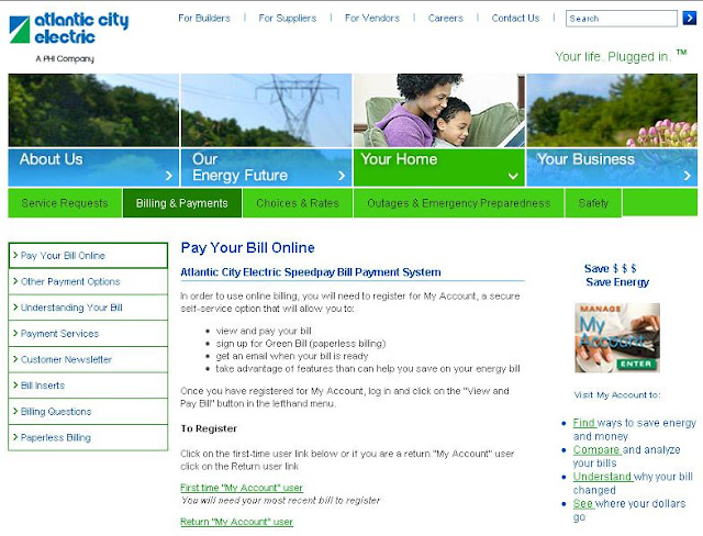 Www.Atlanticcityelectric.com Online Payment - Atlantic City Electric bill pay