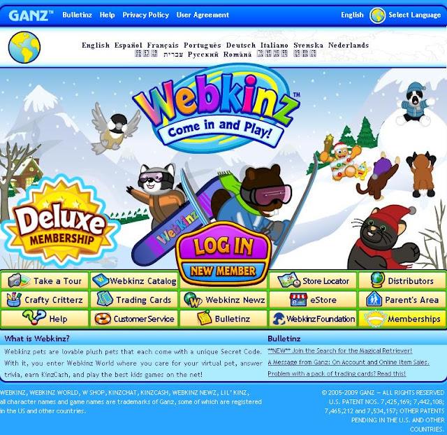 Webkinz Login Page - Www.webkinz.com