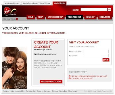 Login to my virgin account at www.virginmobile.com