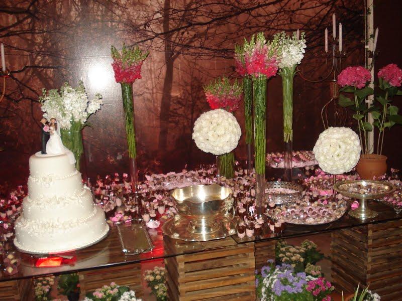 Festa Rosa e Marrom  Decoração Festa Rosa e Marrom