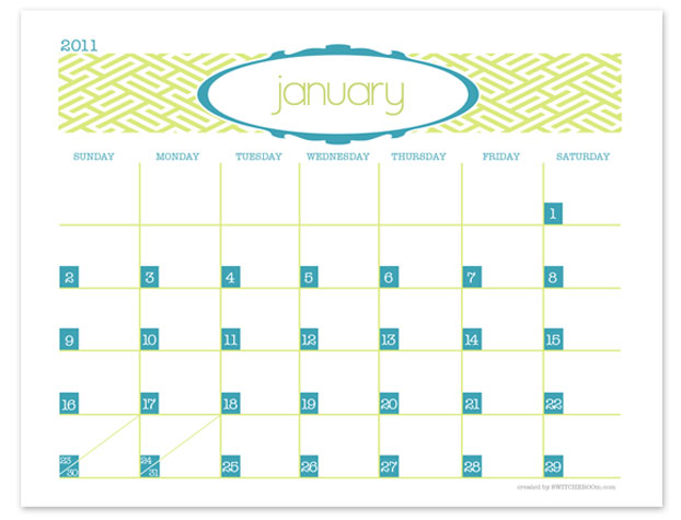 free 2017 calendars to print