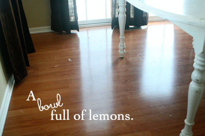 How To Clean Floors Naturally A Bowl Full Of Lemons