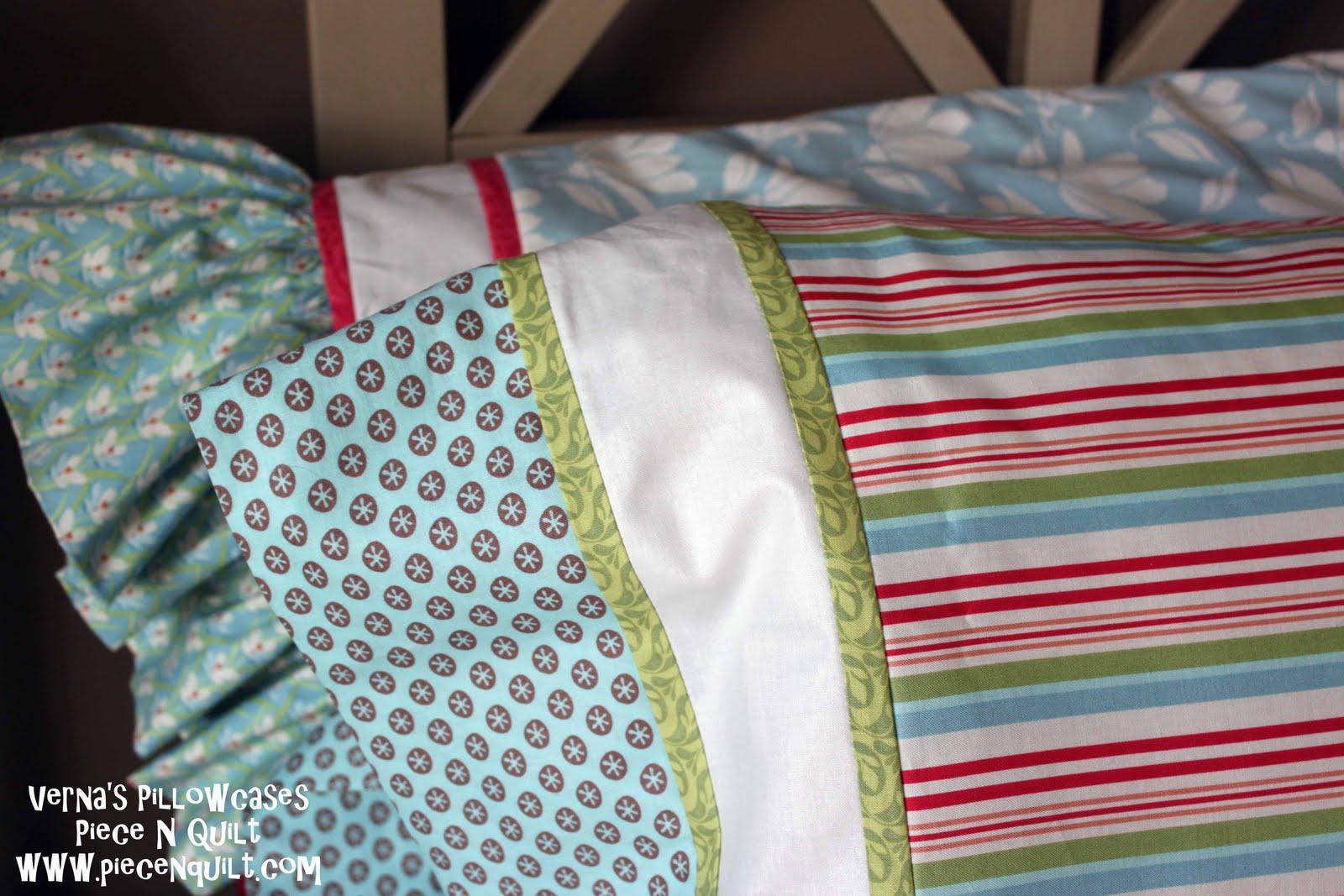Piece N Quilt: Verna's Pillowcases Tutorial : pillowcase quilt pattern - Adamdwight.com