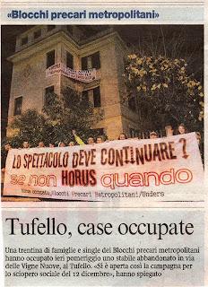 Tg roma talenti nuove occupazioni di case a bufalotta for Finanziamento della costruzione di nuove case