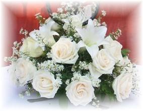 Centro de mesa en rosas