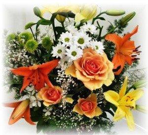 Centro de mesa de flores silvestres