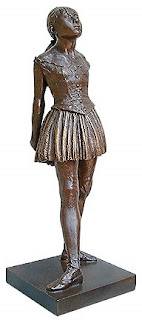 DEGAS, Petite Danseuse de Quatorze Ans. (Little Dancer of Fourteen), c.1884, wax statuette
