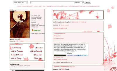 Flower Basket Myspace Template