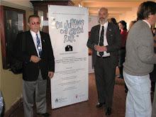 Luis Zazzali Tesorero y Miguel Martín Presidente de la Fundación Otto Krause