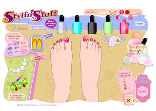 Juego de pedicura y arreglar las uñas de los pies