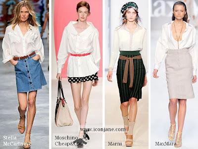 beyaz gomlek modelleri 2010 yaz sezon modasi 3