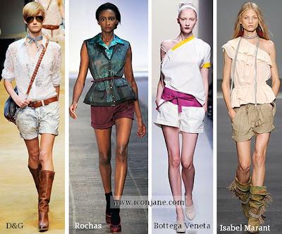 2010 yaz duble parca sort modelleri moda trend 10