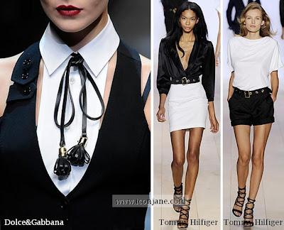 siyah beyaz moda trend 2010 yaz 2