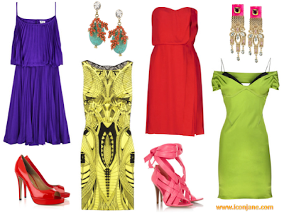 canli renkli abiye elbise 3