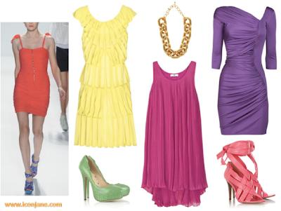 canli renkli abiye elbise 1