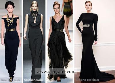 2010 kis abiye siyah uzun elbise