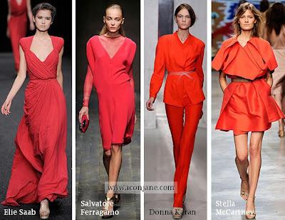 2010 yaz trend moda renk kirmizi 2