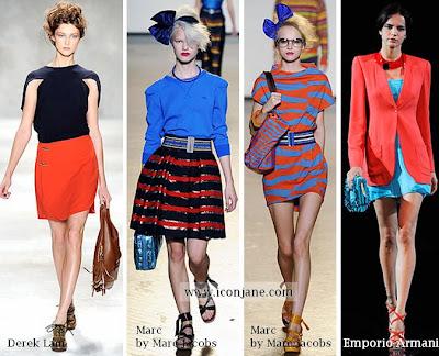 2010 yaz moda renkleri kirmizi mavi 2