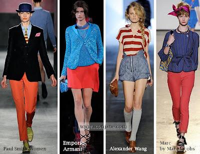 2010 yaz moda renkleri kirmizi mavi 1