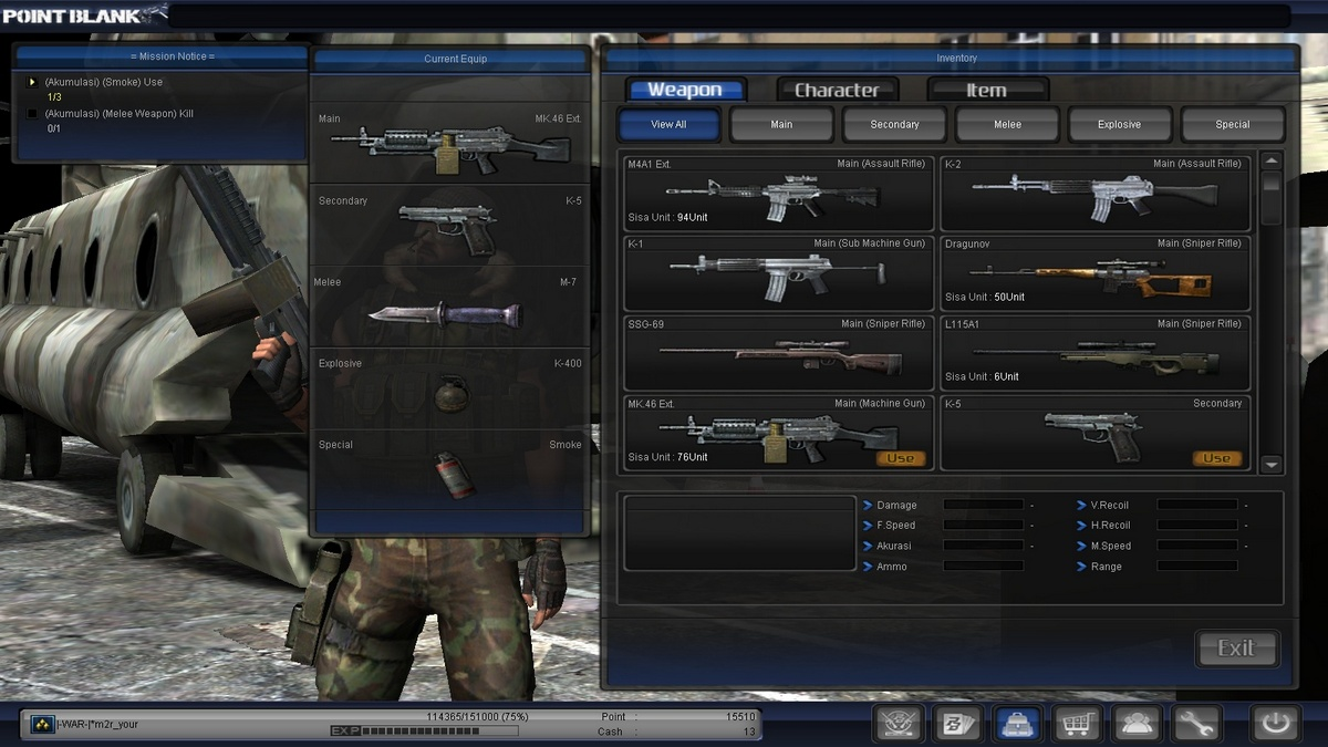 weapon item 2 1lt grade 5 atau biasa disebut diamond 2 emas nih