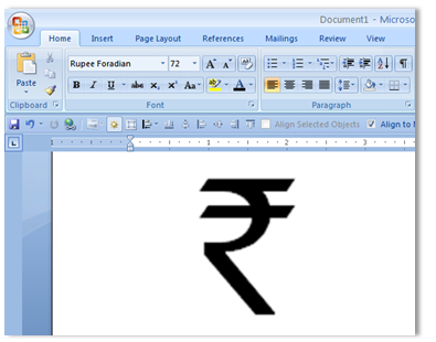 Steps To Write New Indian Currency Symbol For Indian Rupee