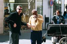 Músicos callejeros sevillanos