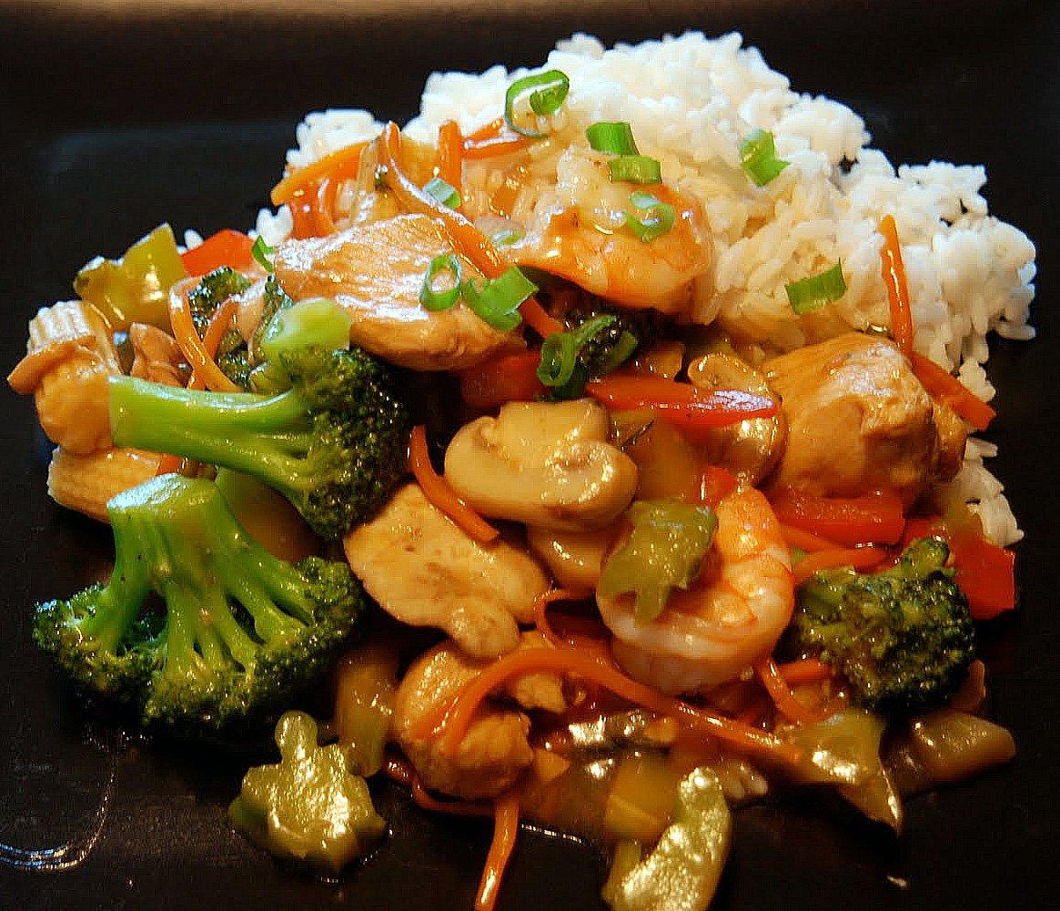 Chicken & Shrimp Vegetable Stir-Fry - Katie's Cucina