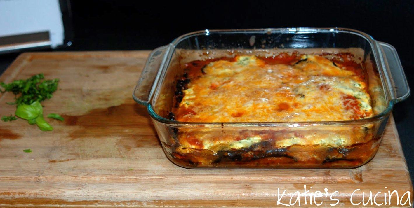 Lighter Eggplant Parmesan - Katie's Cucina