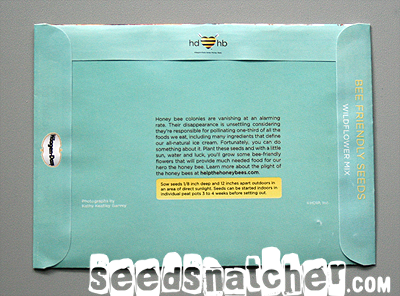 Bee Friendly Seed Packet by Haagen-Dasz
