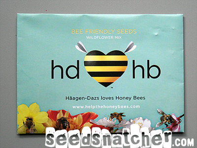 Bee Friendly seeds packet by Haagen-Dasz