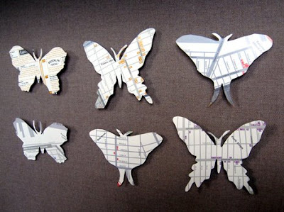 Paper Butterfly Note Holders - Crafts: free, easy, homemade craft