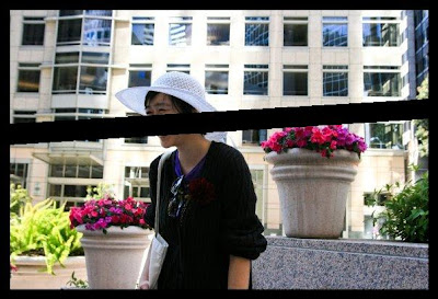 outfit white hat financial district