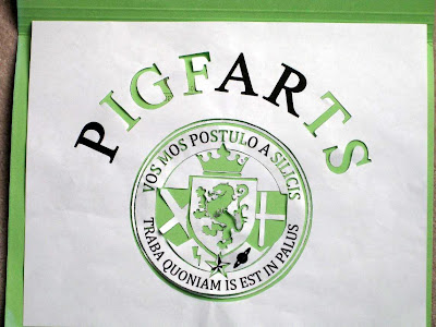 pigfarts shirt t-shirt silkscreen stencil from a very potter musical harry potter starkidpotter rocketship rocket ship mars college logo