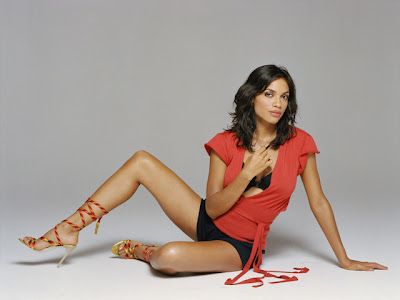 rosario dawson leather. One look at Rosario Dawson and