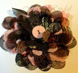 stampin up, big shot, fabric flower pin