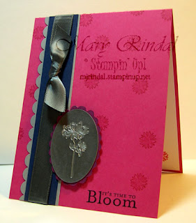stampin up, Bella's Bloom, Card, faux metal technique