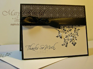 stampin up, vintage vogue, kind & caring thoughts, thank you card