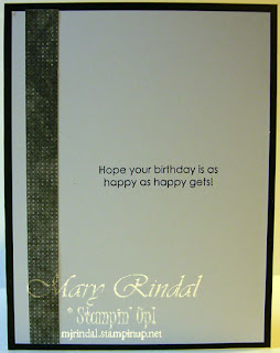 stampin up, birthday card