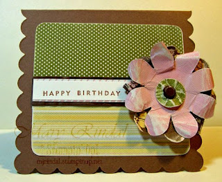 stampin up, flower card, big shot