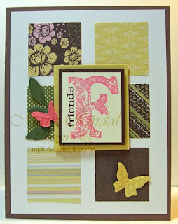 stampin up, vintage vogue, sketch challenge