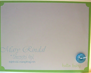 stampin up, baby card