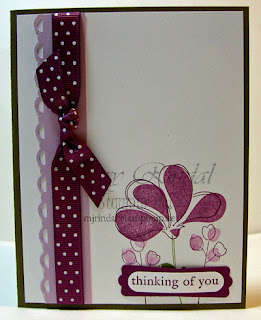 stampin up, awash with flowers, scallop trim punch, sympathy card
