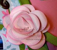 stampin up, paper rose, flower punch